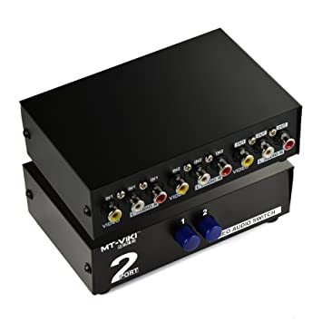 Amazoncom Optimal Shop 2 Way AV Switch RCA Switcher 2 In 1 Out