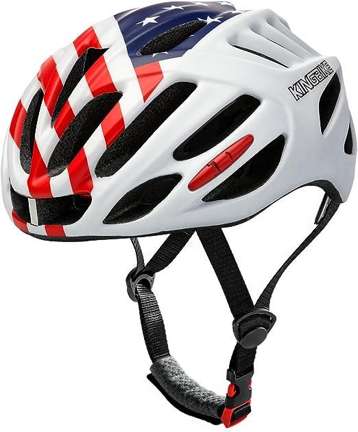 SRUN Casco Bicicleta Mujer Ajustable con Tiras Reflectantes De ...