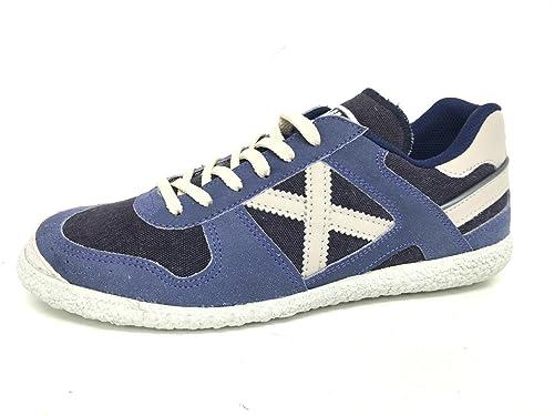 Munich - Zapatillas de Piel para hombre azul BLU SUGAR azul Size: UNISEX 45 vAi0u4