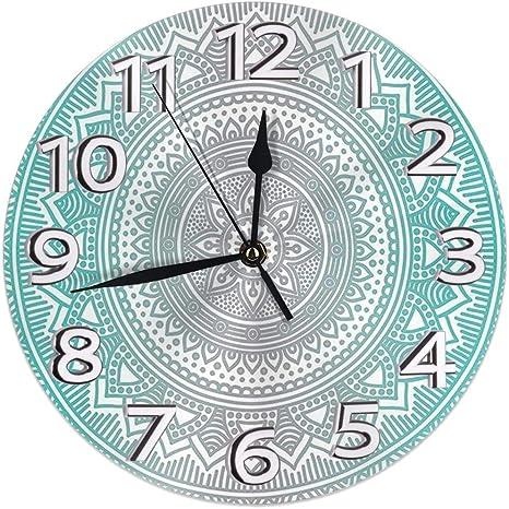 Imagen deDZCP-y Reloj de Pared Redondo Número de Reloj Relojes de Escritorio Decoración sin tictac Grandes números Reloj de Cuarzo Digital