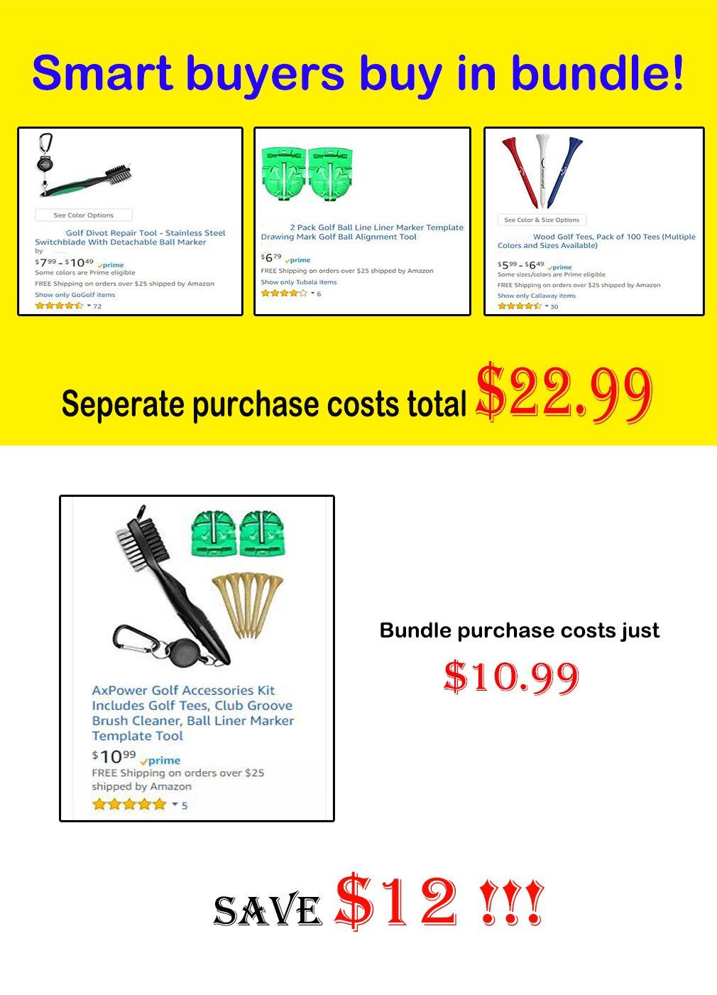 Amazon Axpower Golf Accessories Kit Includes Golf Tees Club