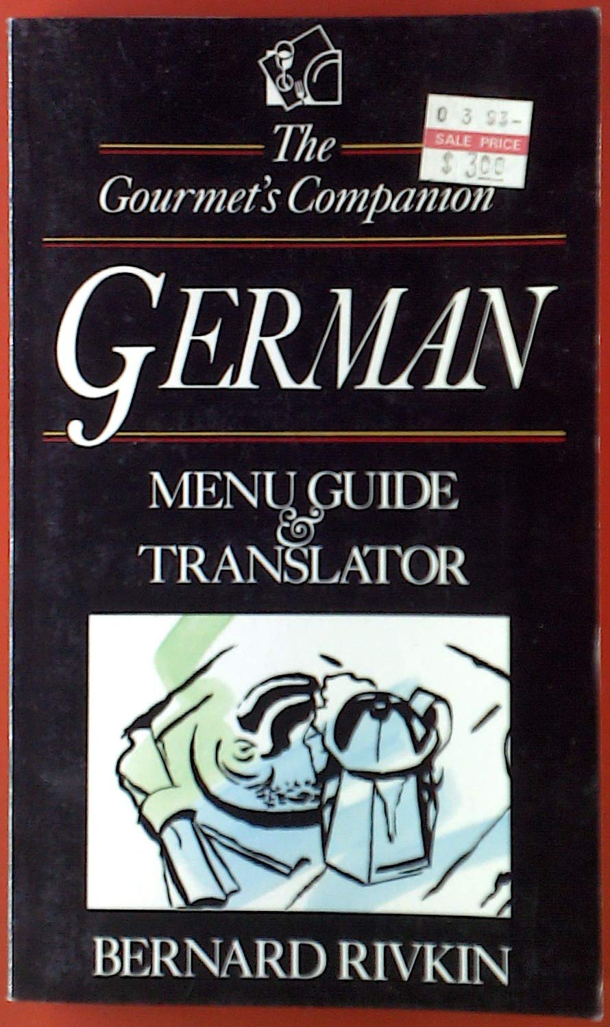 The Gourmets Companion German Menu Guide /& Translator
