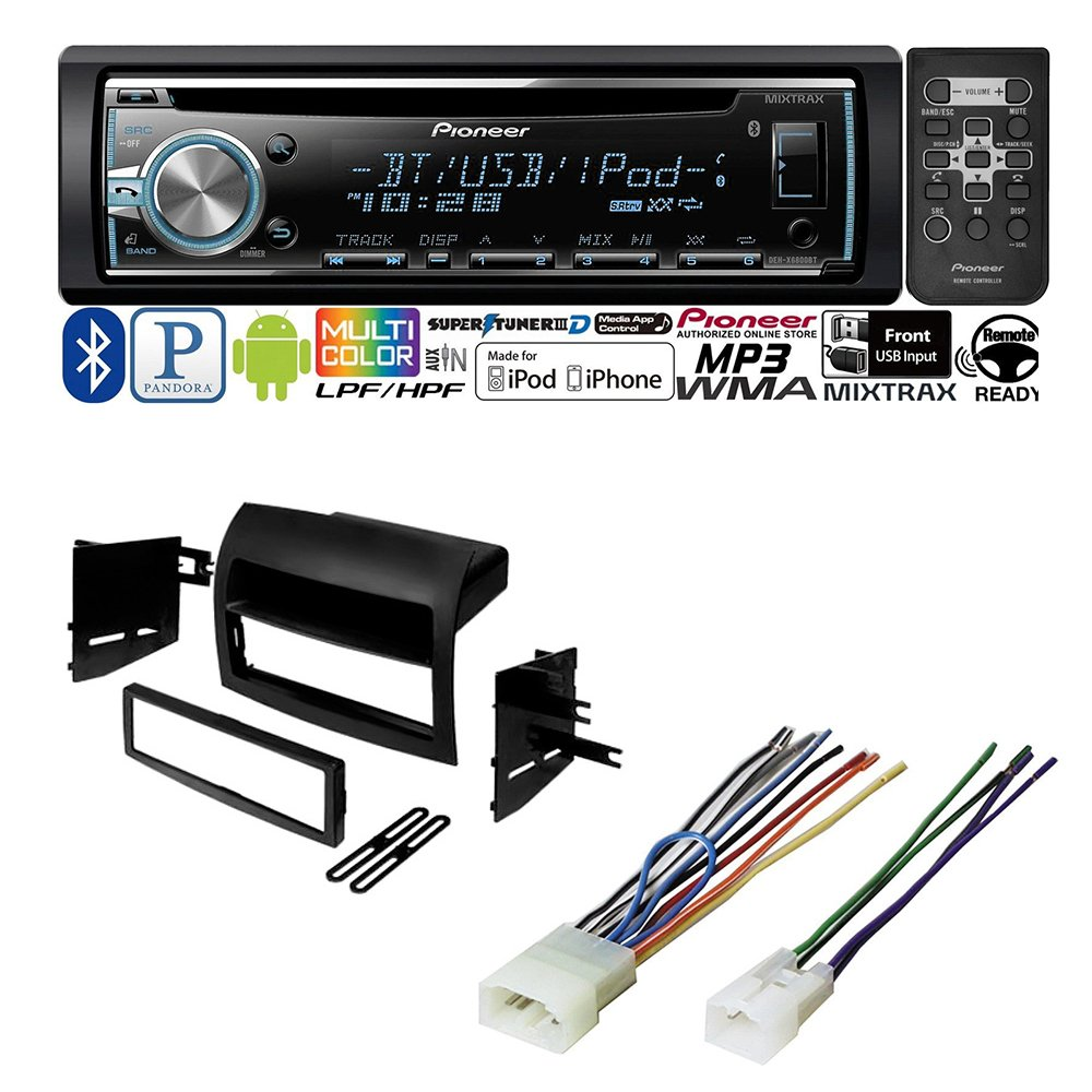TOYOTA TACOMA 2005 - 2011 CAR STEREO RADIO DASH INSTALLATION MOUNTING KIT W/ WIRING HARNESS RADIO ANTENNA ADAPTER- by AMERICAN INTERNATIONAL, METRA, SCOSCHE, PIONEER