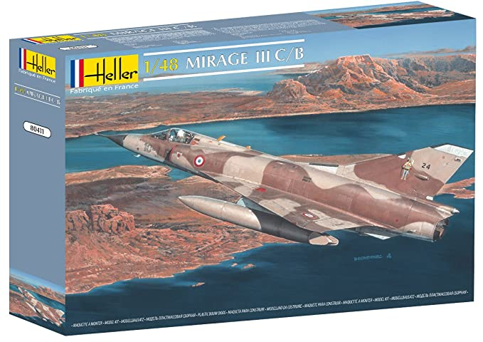 Heller Mirage III C/B Airplane Model Building Kit