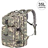 Vbiger 35L Military Tactical Backpack Waterproof Outdoor Trekking Camping Tactical Molle Bag Outdoor Gear Assault Pack Small Rucksack for Outdoor Hiking Camping Trekking Hunting