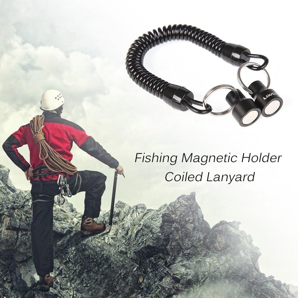 Lixada Magnetische Nettofreigabe Halter Keeper Magnet Clip Landing Net Connector f/ür Angeln und Flug