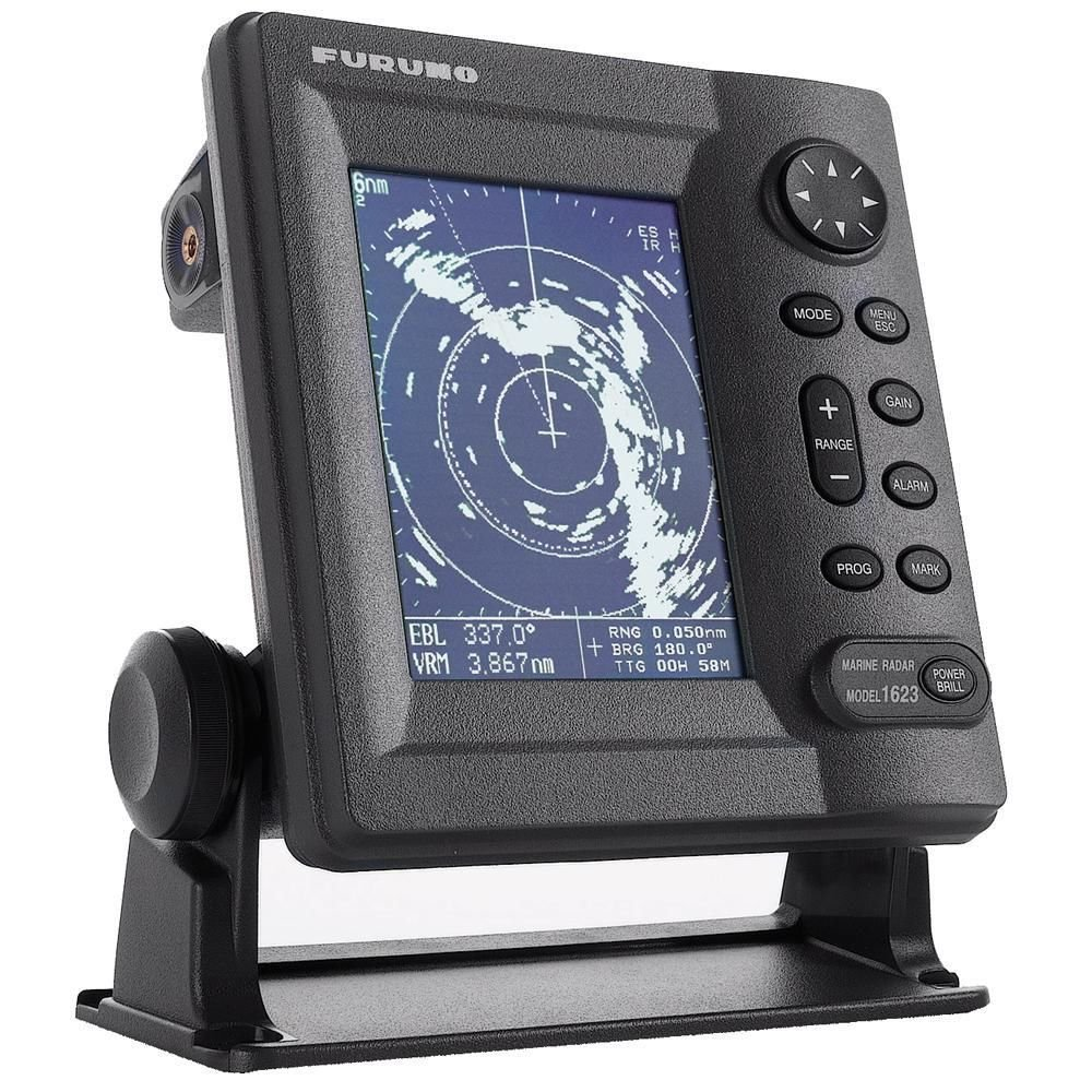 Furuno 1623 LCD Radar 2.2 KW 16NM 15 Dome - Automatic Receiver Tuning/Navigation