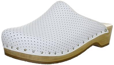 Berkemann Natur-Toeffler, Unisex-Erwachsene Clogs, Weiß (weiß 100), 45 1/3 EU (10.5 Erwachsene UK)