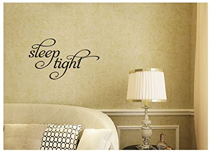 Amazon.com: Sleep Tight Nursery Children Girl Boy Bedroom Dream Wall ...