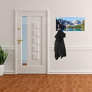 Appendiabiti da Parete con Design Moraine Lake Canada Gancio Appendiabiti a Muro Appendiabiti da Parete dg237