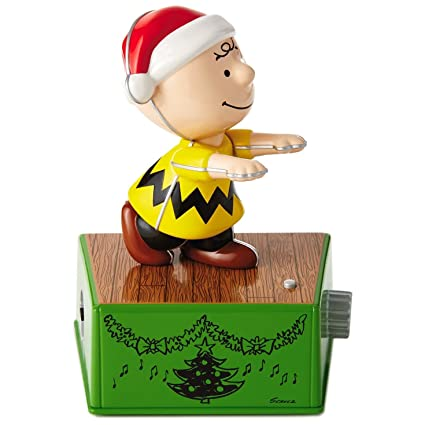 peanuts charlie brown christmas dance party figurine with music and motion figurines - Peanuts Christmas Dance