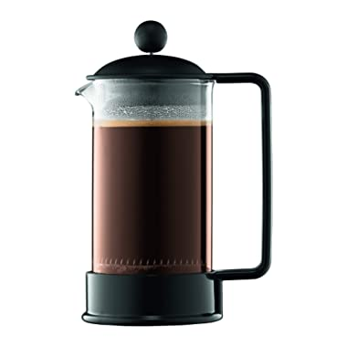 Bodum 1543-01US Brazil French Press Coffee and Tea Maker, 12 Ounce, Black