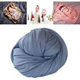 YueYang Long Ripple Wrap Photography Prop Stretch Cheesecloth Wraps Photo Blanket Props Newborn Baby