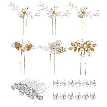 Silver Floral Rhinestone Crystal Art Deco Hair Comb Accessory Pins Wedding Bridal Party Bride Bridesmaids Hair Acceasories Gift Bobby Pins