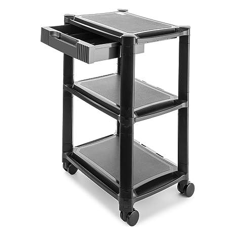 auna P-Stand Mesa con Ruedas para Impresora • Mueble para Oficina • Cajones •
