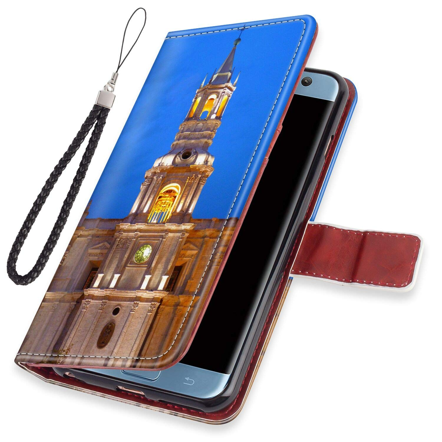 Amazon.com: Wallet Leather Card Holder Case Fit for Galaxy ...