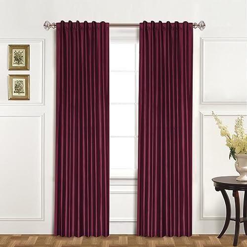 United Curtain 100-Percent Dupioni Silk Window Curtain Panel