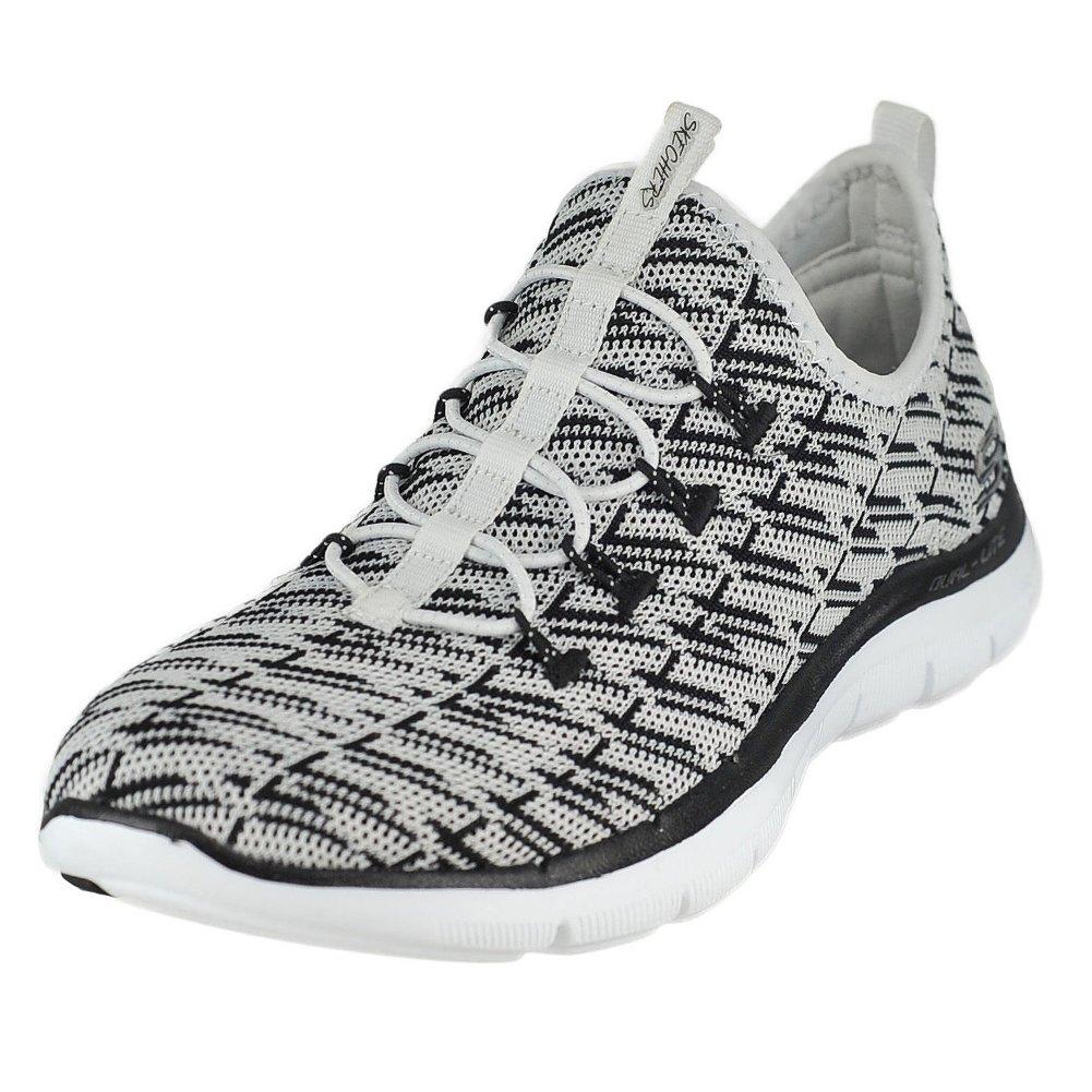 Skechers Women's Flex Appeal 2.0 B(M) Insight Sneaker B06XVTG5PW 7 B(M) 2.0 US|White-black b66a25