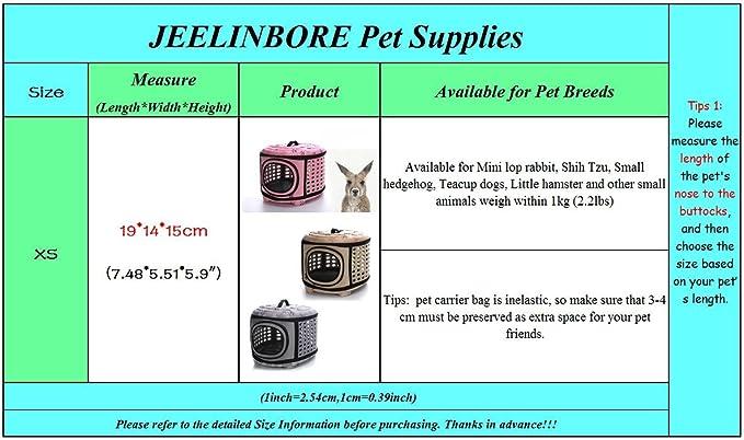 Jeelinbore Portable Mini Pet Travel Bag Comfortbale Eva Hard Cover