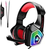 Gaming Headset for PS4, Beexcellent Comfort Noise Reduction Crystal Clarity 3.5mm LED Professional Headphone with Mic…