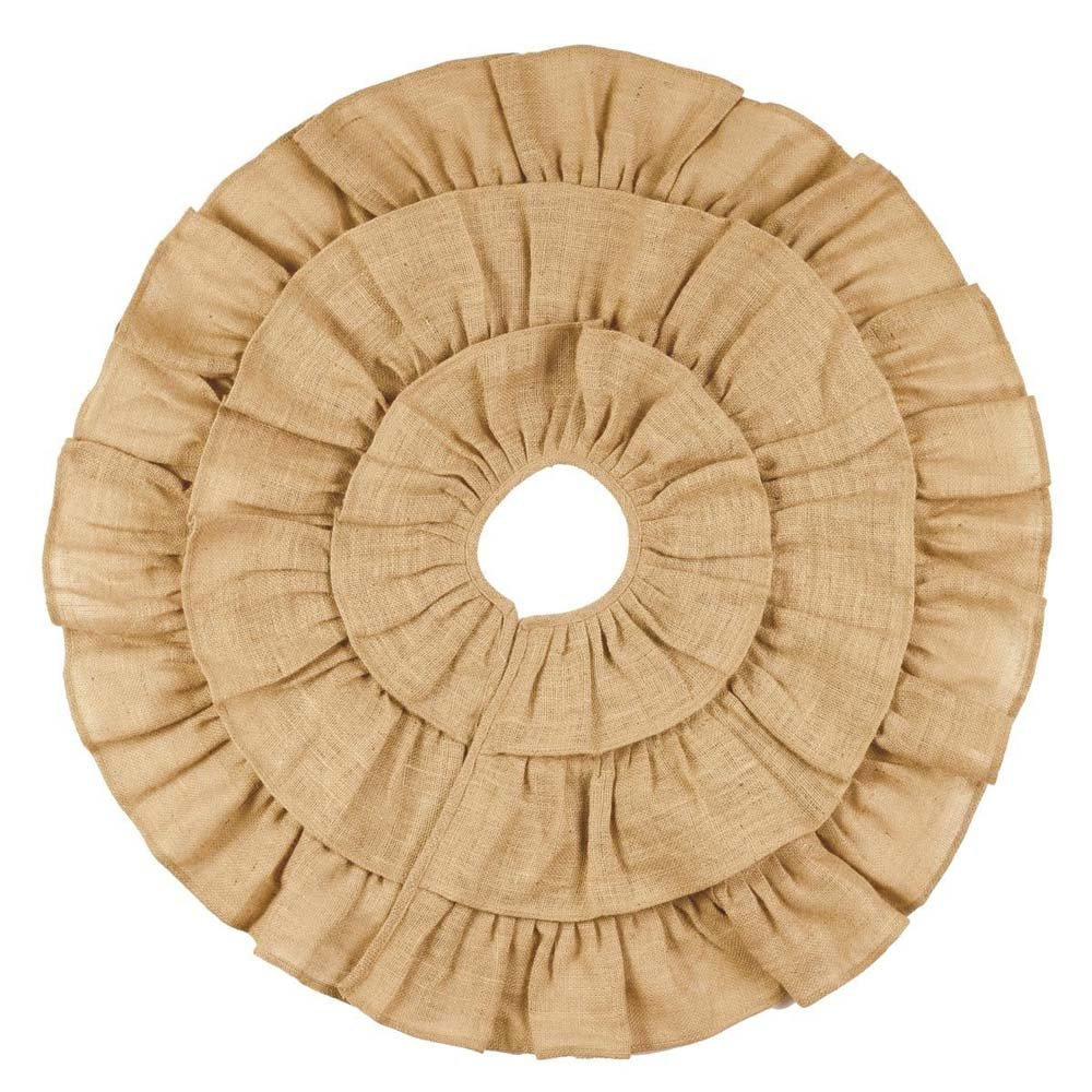 Burlap Triple Ruffle Tree Skirt (16