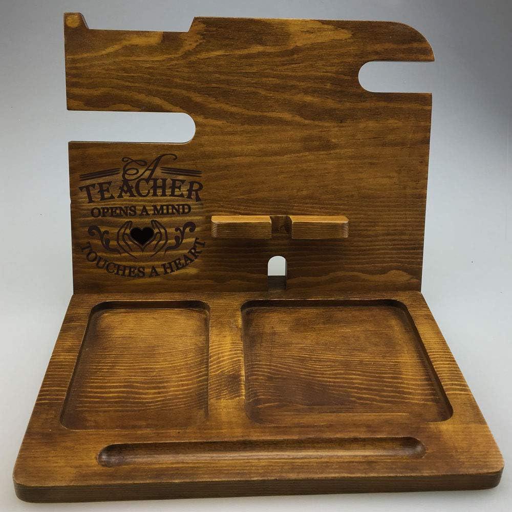 Phone Holder Women Wood Docking Station for Men Best Teaching Teacher Appreciation Gifts