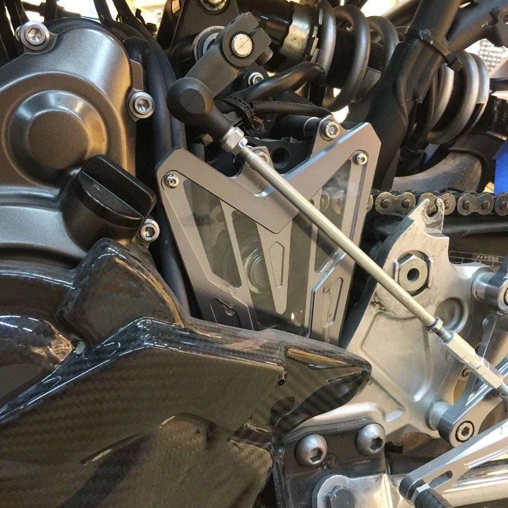 Cubierta del Motor del pi/ñ/ón del Protector de Cadena Delantero de Aluminio CNC de la Motocicleta para 2013-2016 Yamaha FZ MT 07 FZ-07 MT-07 FZ07 MT07 2014 2015 13-16 Azul