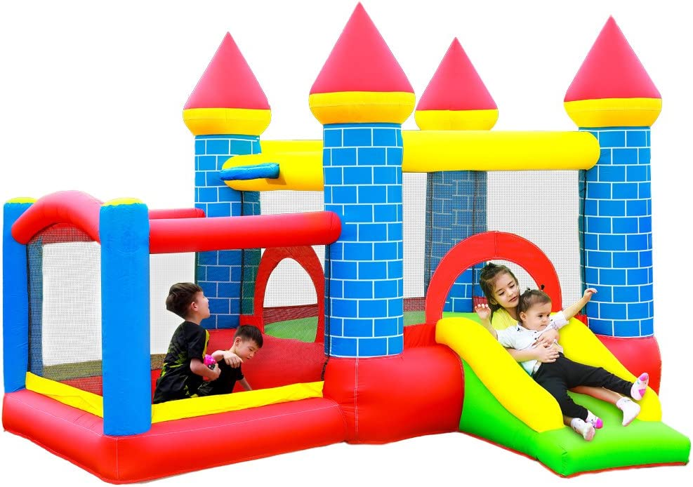 doctor dolphin Inflatable Bounce House Jumping Bouncy Castle House with Air Blower for Kids