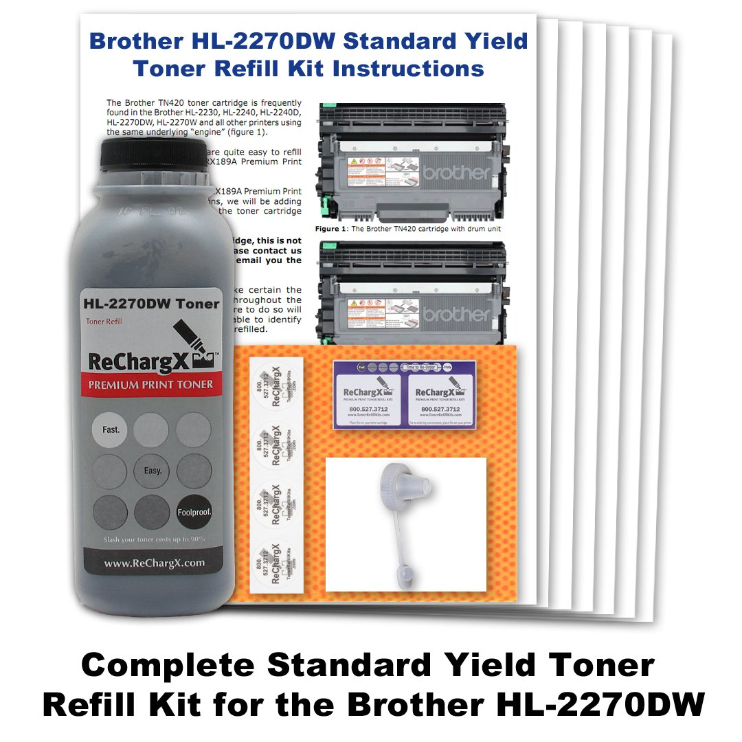 Amazon.com: Starter Cartridge Toner Refill Kit compatible with Brother  HL-2270dw: Office Products