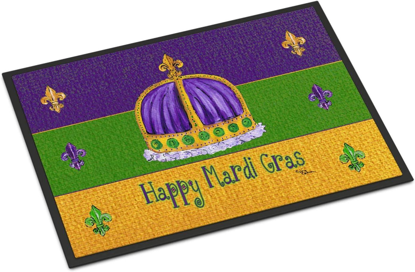 Caroline s Treasures 8385MAT Mardi Gras Indoor or Outdoor Mat 18×27 Doormat, 18H X 27W, Multicolor