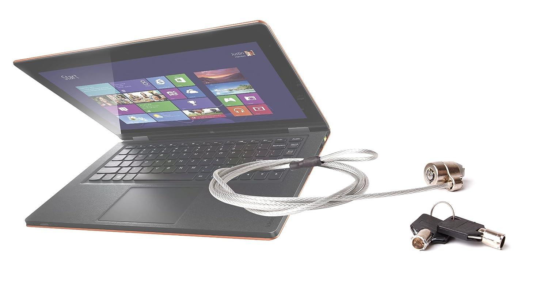 Candado de seguridad antirrobo con llave para ordenadores portátiles Lenovo Yoga 11S, Lenovo Yoga 2 Pro, U330 y U310 Touch - 1,8 metros: Amazon.es: ...