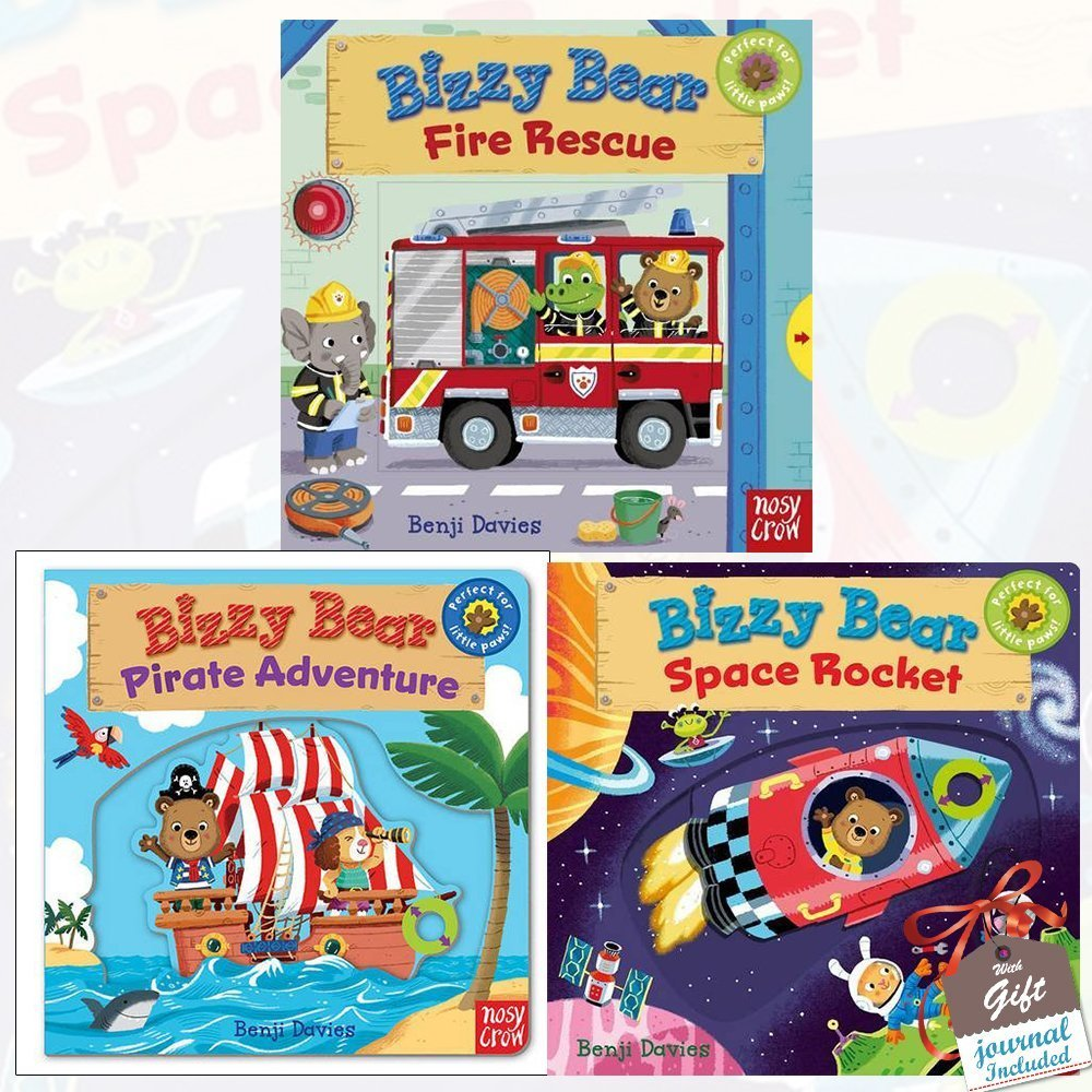 Download Bizzy Bear Collection Benji Davies 3 Books Bundle with Gift Journal (Space Rocket, Fire Rescue, Pirate Adventure!) PDF