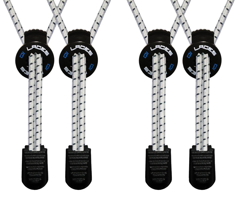 Qi Laces Elastic No Tie Shoelaces for: Kids & Adults - 2 Pack