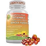 Liposomal Vitamin C Enriched with Organic Acerola Cherries & Camu Camu, Sunflower Lecithin, High Absorption,Potency & Bioavai