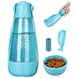 UPSKY Dog Water Bottle Portable Foldable Dog Water Dispenser for Outdoor Walking, Hiking and Travel Multifunction Lightweight
