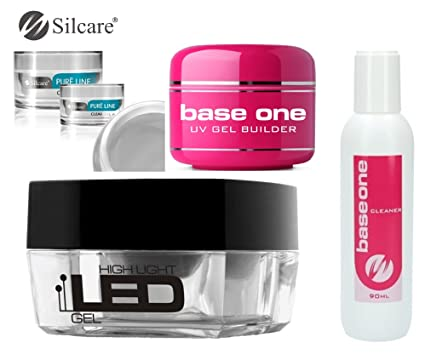 Limpiador de uñas de gel Silcare Base One UV Gel LED Pure Line Plus Base One ...