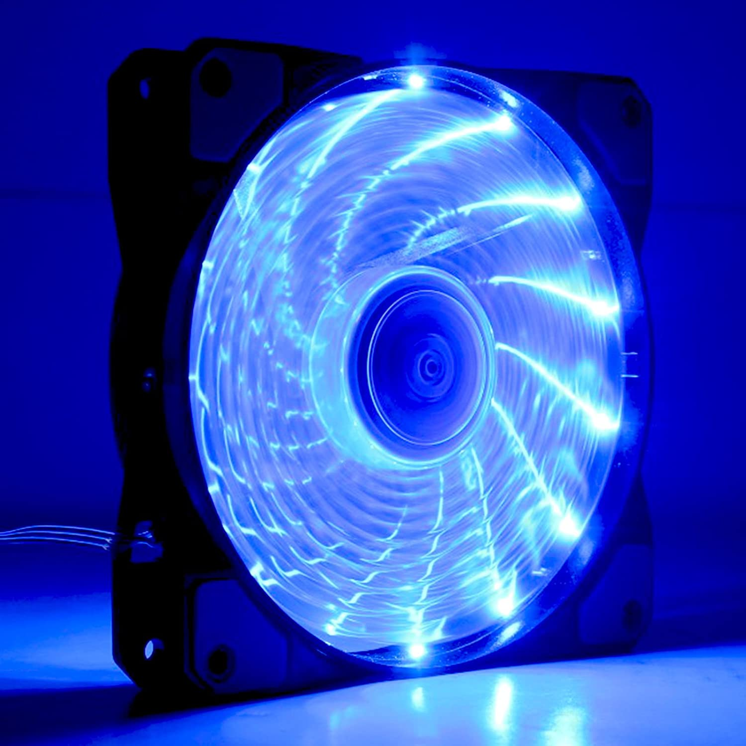 120mm-DC-12v-LED-PC-Computer-Case-Fan-4Pin-3Pin-Connector-For-Radiator-Blue