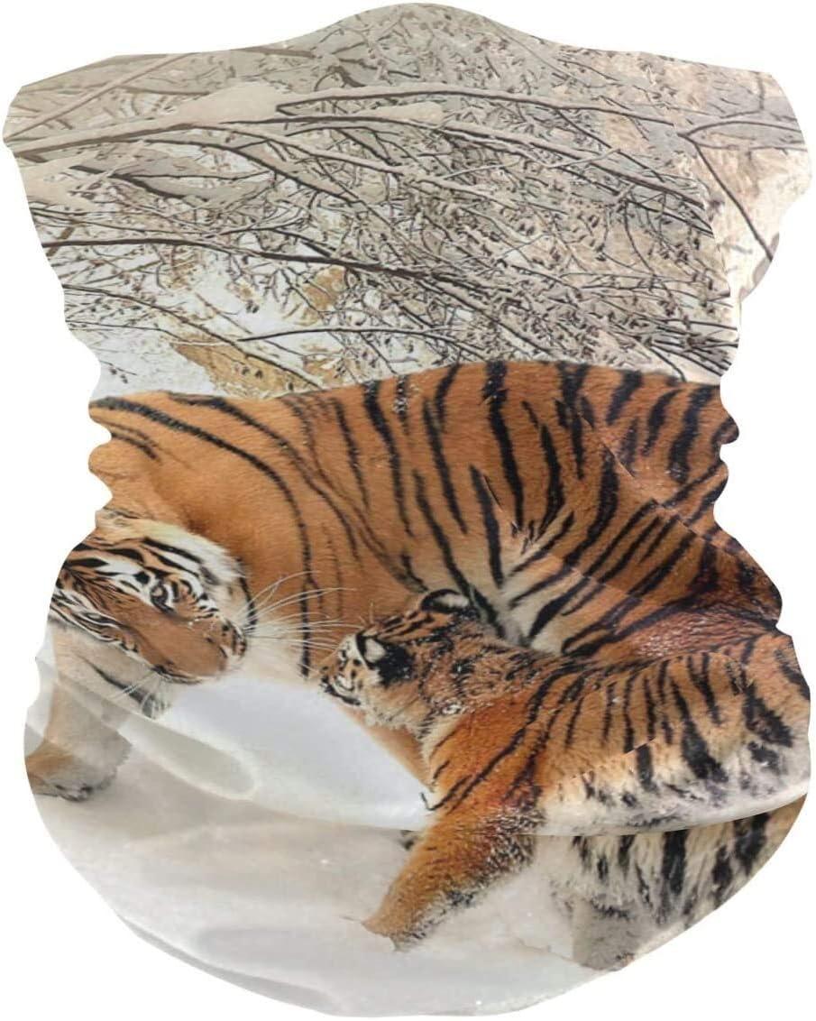 QZKFJ Máscara del pañuelo de la Cara, la Mitad mascarilla Inicio de la mascarilla de la máscara del pañuelo del delirio o el Tigre de Viento Polvo de Protección Solar
