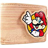 Nintendo Super Mario and Luigi Wood Effect Brown Coin & Card Bi-Fold Wallet