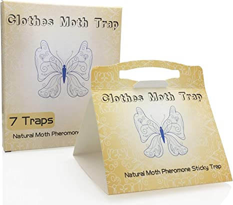 Webbing Moth Carpet PTCLTRAPS8 Moth Traps Highly Effective Clothes with Natural Attractant Case-Making Pro Cloest Essentials Get Rid of Wool Moths with Natural Safe and Odor-Free 4 Traps