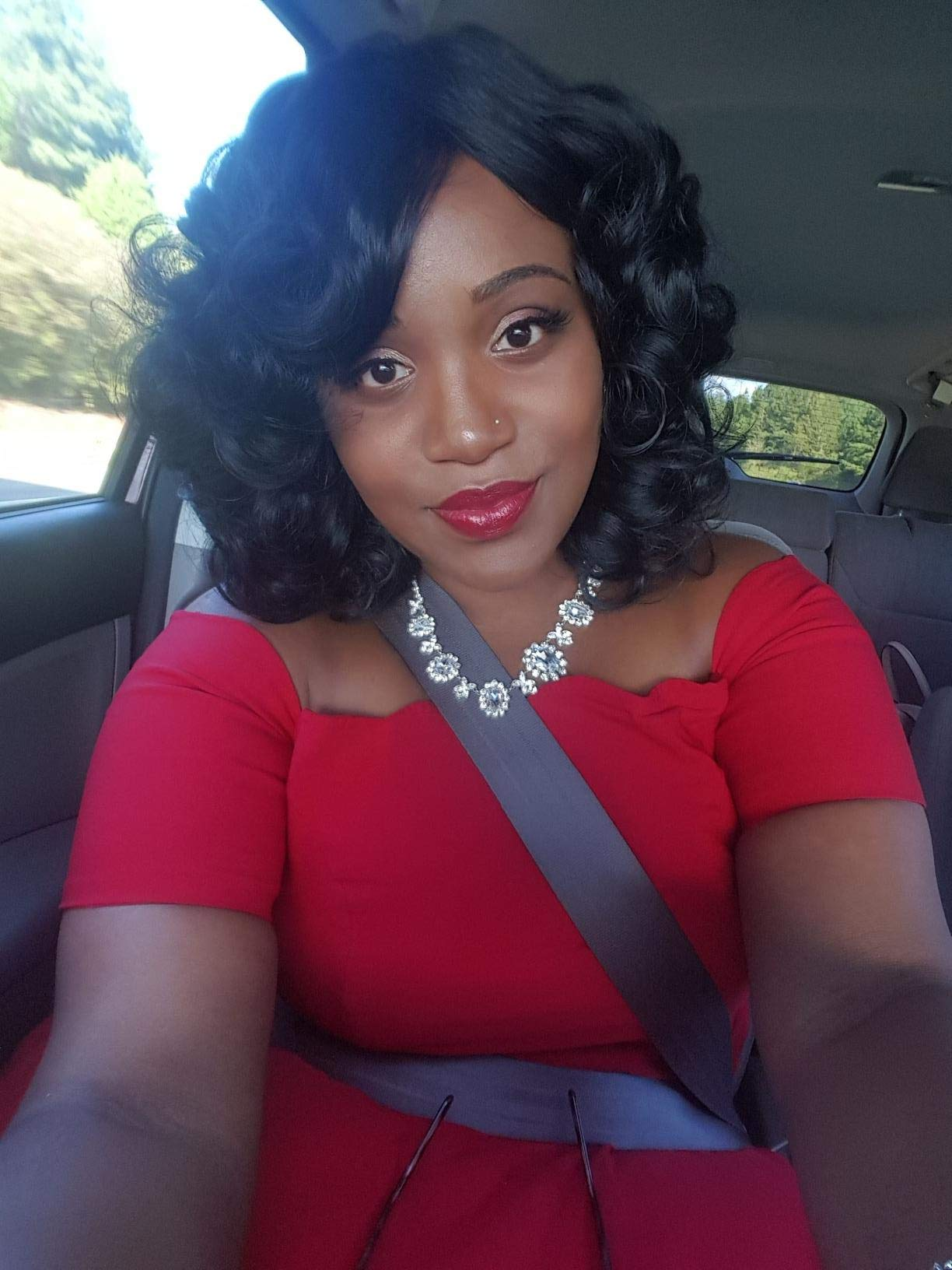 ELIM Short Curly Kinky Wigs for Black Women Fluffy Wavy