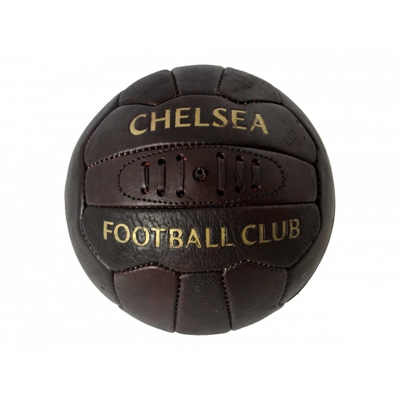 Chelsea FC - Balón de fútbol oficial estilo retro (Tamaño 5/Marrón ...