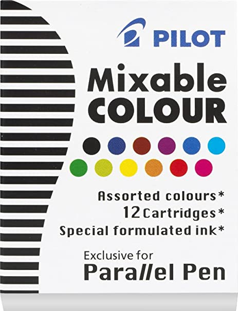 Assorted  P77312 12 BOXES Pilot Parallel Pen Ink Refills for Calligraphy Pens