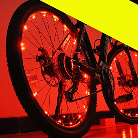 eBerry LED bicicleta rueda luz cadena – 20 LED luces Spoke ...