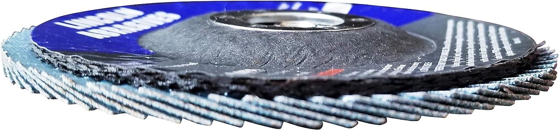 50 Pack Flap Discs 60 Grit 4.5 x 7//8 Sanding Wheels