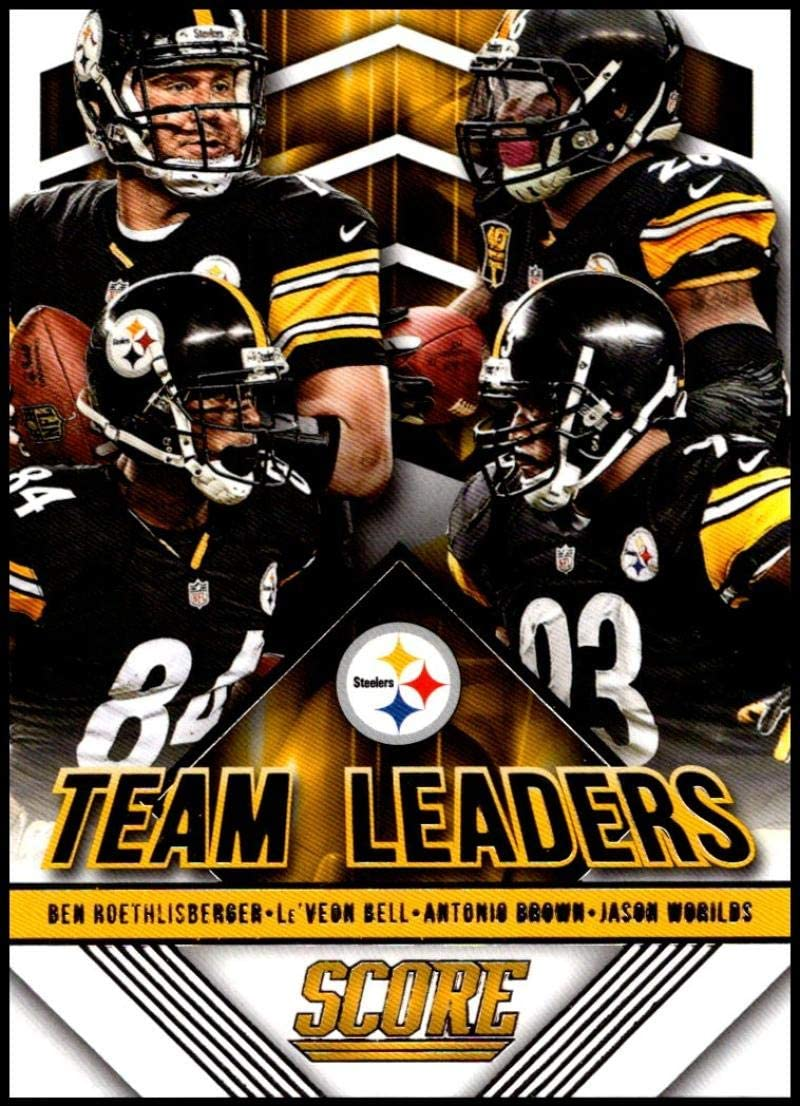 Amazon Com 2015 Panini Score Team Leaders 9 Antonio Brown Ben Roethlisberger Jason Worilds Le Veon Bell Steelers Football Card Nm Mt Collectibles Fine Art
