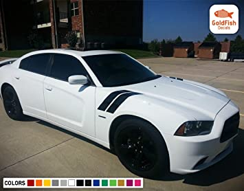 Door Side Racing Stripe Decal Sticker For Dodge Charger 2006 2007 2008 2009