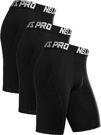 Neleus Men's Compression Shorts Pack of 3