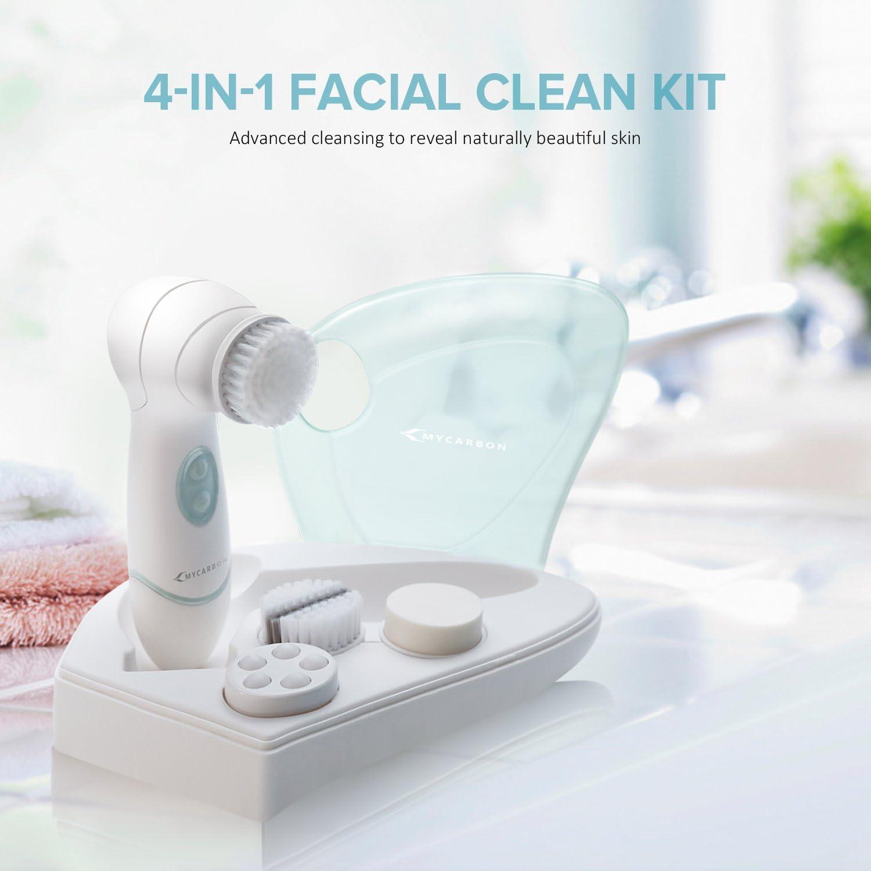 El limpiador profesional de lavar, el cepillo electrónico impermeable, instrumento portátil de limpiador, el cepillo de cerdas suaves para limpiar poros, el limpiador de cutis: Amazon.es: Belleza