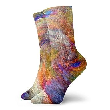 amazon com raunern rainbow women crew socks colorful funky socks